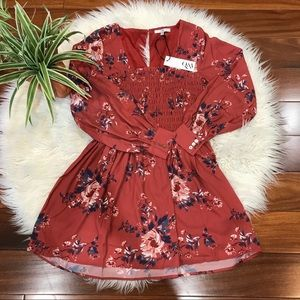New🌿Floral Printed  Long Sleeve Dress